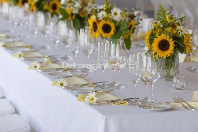 Dekoracja stołu weselnego - 109