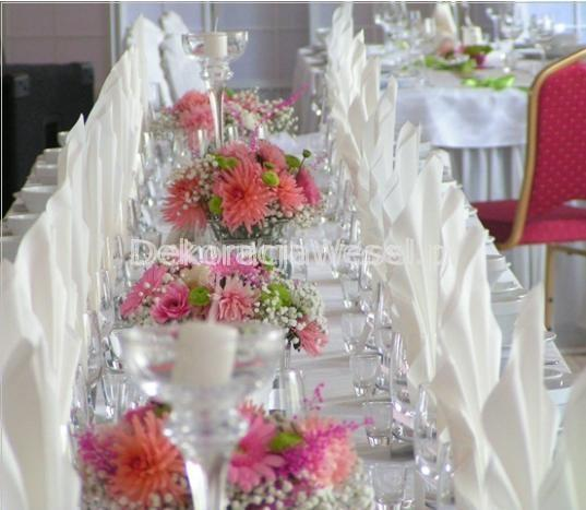 Dekoracja stołu weselnego - 115