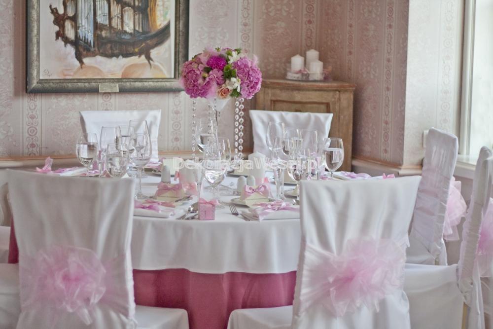 Dekoracja stołu weselnego - 117