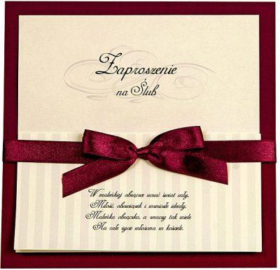 Zaproszenia PartyDeco - Zaproszenie na Ślub symbol ZP28 01 400x386