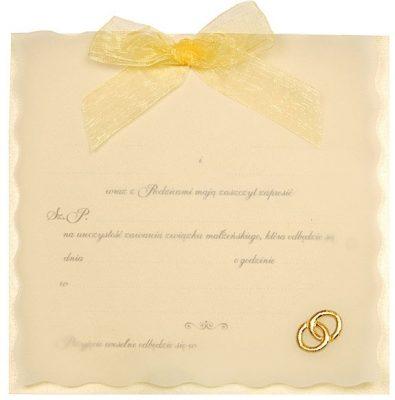 Zaproszenia PartyDeco - Zaproszenie na Ślub symbol ZP7 01 395x400