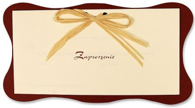 Zaproszenia PartyDeco - Zaproszenie na Ślub symbol ZP2 01 400x221