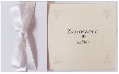 Zaproszenia PartyDeco - Zaproszenie na Ślub symbol ZP49 01 400x248