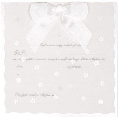 Zaproszenia PartyDeco - Zaproszenie na Śub symbol ZP14 01 400x396