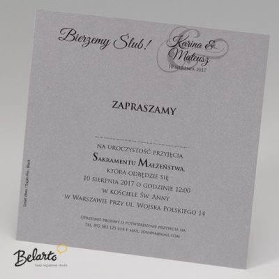 Zaproszenia Belarto - Zaproszenie na Slub symbol 723120 3 belarto 400x400