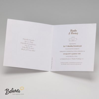 Zaproszenia Belarto - Zaproszenie na Slub symbol 724024 3 belarto 400x400