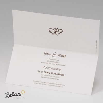 Zaproszenia Belarto - Zaproszenie na Slub symbol 724036 S 3 belarto 400x400