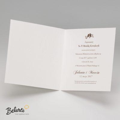 Zaproszenia Belarto - Zaproszenie na Slub symbol 724052 3 belarto 400x400