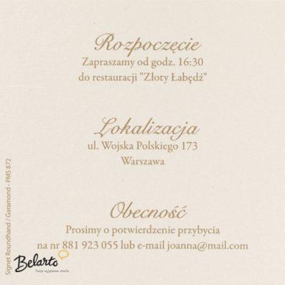Zaproszenia Belarto - Zaproszenie na Slub symbol 724597 belarto 400x400