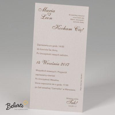 Zaproszenia Bella - Zaproszenie na Slub symbol 725004P 3 bella 400x400