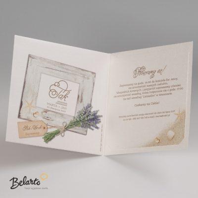 Zaproszenia Bella - Zaproszenie na Slub symbol 725005P 3 bella 400x400