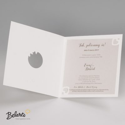Zaproszenia Bella - Zaproszenie na Slub symbol 725008P 3 bella 400x400