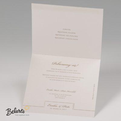 Zaproszenia Bella - Zaproszenie na Slub symbol 725011P 3 bella 400x400