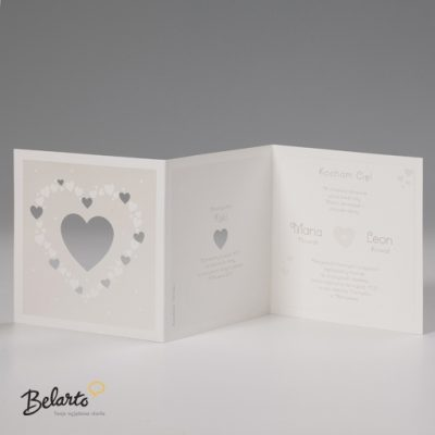 Zaproszenia Bella - Zaproszenie na Slub symbol 725025P 3 bella 400x400