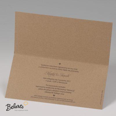 Zaproszenia Bella - Zaproszenie na Slub symbol 725028P 3 bella 400x400