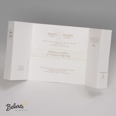 Zaproszenia Bella - Zaproszenie na Slub symbol 725030P 3 bella 400x400