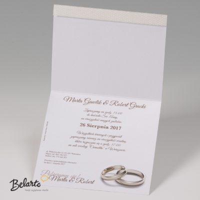 Zaproszenia Bella - Zaproszenie na Slub symbol 725033P 3 bella 400x400