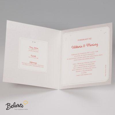 Zaproszenia Bella - Zaproszenie na Slub symbol 725036P 3 bella 400x400