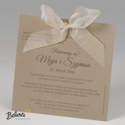 Zaproszenia Bella - Zaproszenie na Slub symbol 725037P 3 bella 400x400
