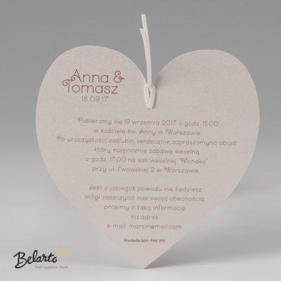 Zaproszenia Bella - Zaproszenie na Slub symbol 725041P 3 bella 400x400