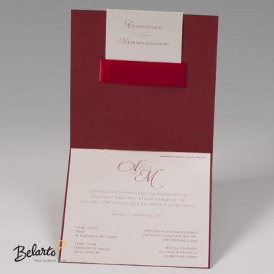 Zaproszenia Bella - Zaproszenie na Slub symbol 725042P 3 bella 400x400