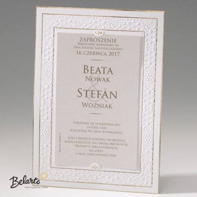 Zaproszenia Bella - Zaproszenie na Slub symbol 725046P bella 400x400