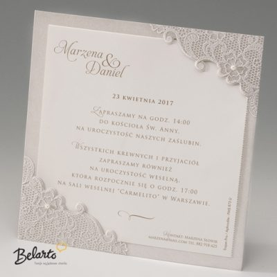Zaproszenia Bella - Zaproszenie na Slub symbol 725048P bella 400x400