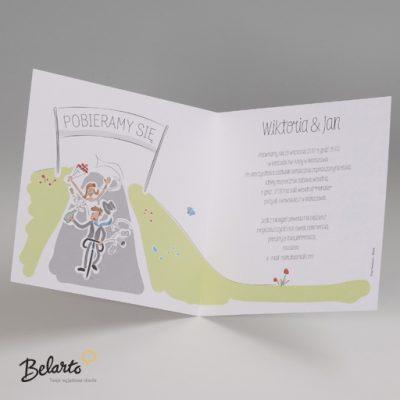 Zaproszenia Bella - Zaproszenie na Slub symbol 725049P 3 bella 400x400