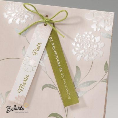 Zaproszenia Bella - Zaproszenie na Slub symbol 725069P 2 bella 400x400