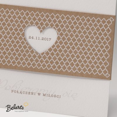 Zaproszenia Bella - Zaproszenie na Slub symbol 725076P 2 bella 400x400