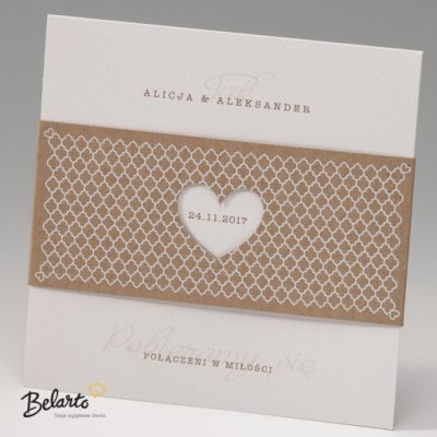 Zaproszenia Bella - Zaproszenie na Slub symbol 725076P bella 400x400