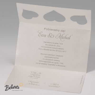 Zaproszenia Bella - Zaproszenie na Slub symbol 725079P 3 bella 400x400