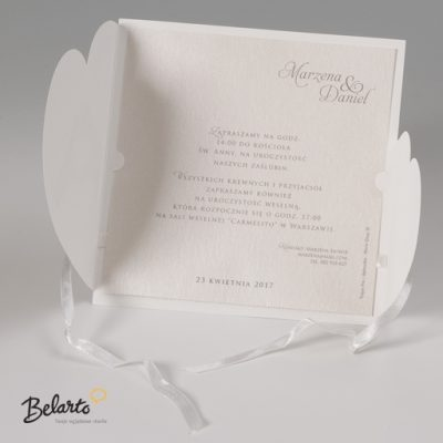 Zaproszenia Bella - Zaproszenie na Slub symbol 725080P 3 bella 400x400