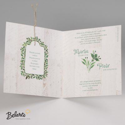 Zaproszenia Bella - Zaproszenie na Slub symbol 725082P 3 bella 400x400