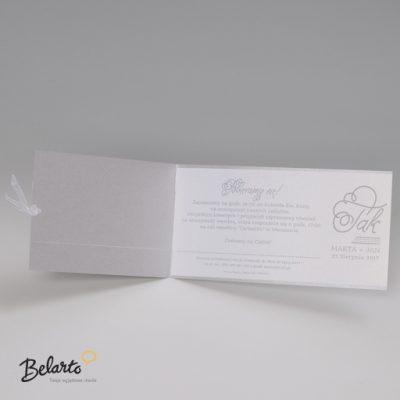 Zaproszenia Bella - Zaproszenie na Slub symbol 725086P 3 bella 400x400