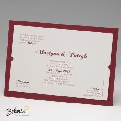 Zaproszenia Bella - Zaproszenie na Slub symbol 725105P 2 bella 400x400