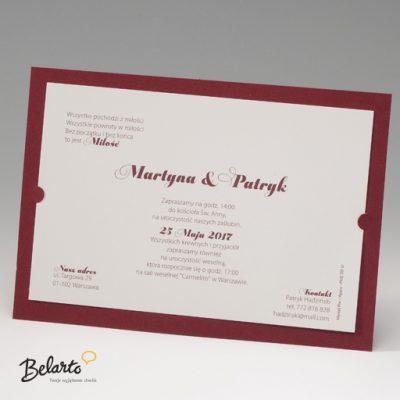 Zaproszenia Bella - Zaproszenie na Slub symbol 725105P bella 400x400