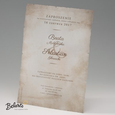Zaproszenia Bella - Zaproszenie na Slub symbol 725110 2 bella 400x400