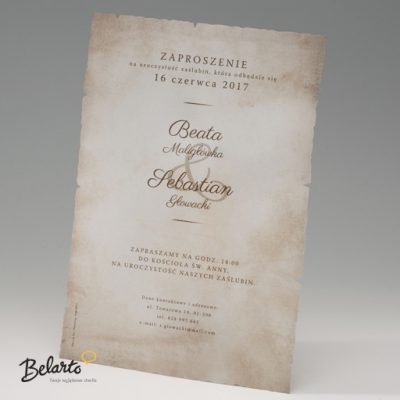 Zaproszenia Bella - Zaproszenie na Slub symbol 725110 bella 400x400