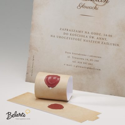 Zaproszenia Bella - Zaproszenie na Slub symbol 725110P 2pcs 2 bella 400x400