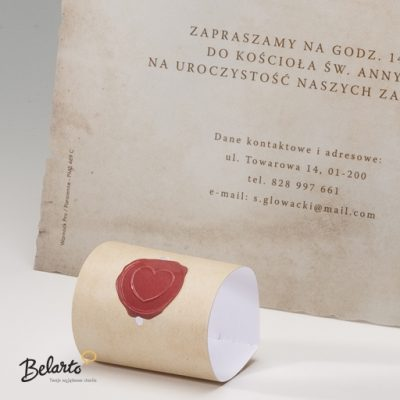 Zaproszenia Bella - Zaproszenie na Slub symbol 725110P 2pcsB 2 bella 400x400