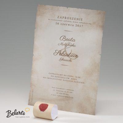 Zaproszenia Bella - Zaproszenie na Slub symbol 725110P 2pcsB bella 400x400