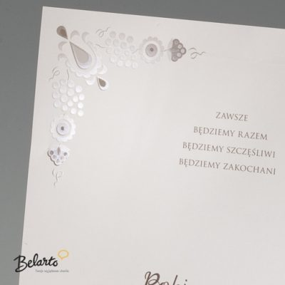 Zaproszenia Bella - Zaproszenie na Slub symbol 725111P 2 bella 400x400