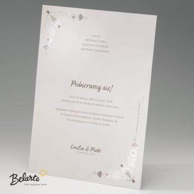 Zaproszenia Bella - Zaproszenie na Slub symbol 725111P bella 400x400