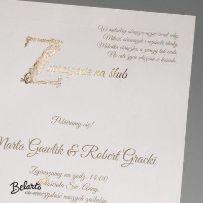 Zaproszenia Bella - Zaproszenie na Slub symbol 725112P 2 bella 400x400