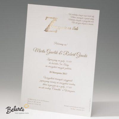 Zaproszenia Bella - Zaproszenie na Slub symbol 725112P bella 400x400
