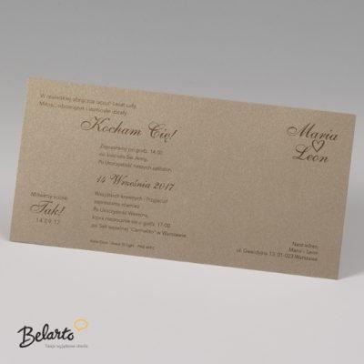 Zaproszenia Bella - Zaproszenie na Slub symbol 725120P 3 bella 400x400