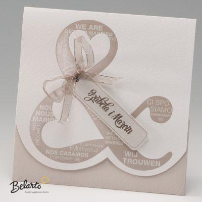 Zaproszenia Bella - Zaproszenie na Slub symbol 725122P bella 400x400