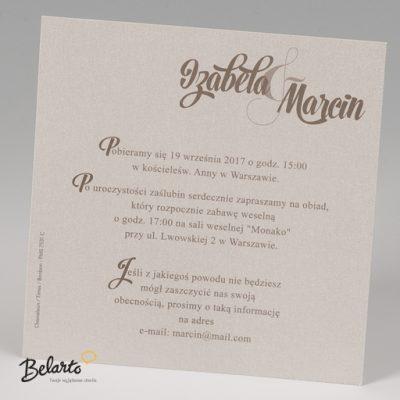 Zaproszenia Bella - Zaproszenie na Slub symbol 725122P 3 bella 400x400