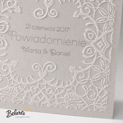 Zaproszenia Bella - Zaproszenie na Slub symbol 725503P 2 bella 400x400